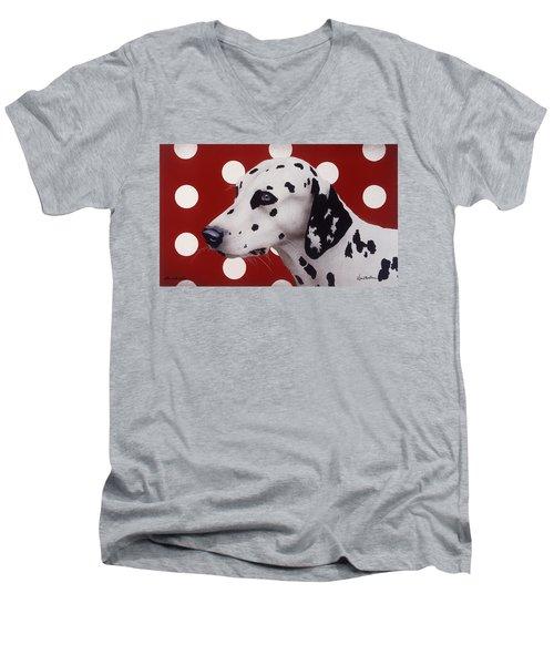 Dots And Spots... Men's V-Neck T-Shirt