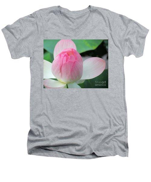Dotus On The Lotus  Men's V-Neck T-Shirt