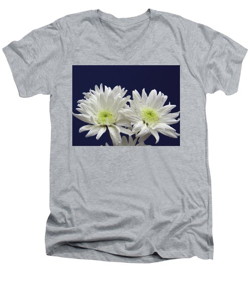 Double Dahlia Men's V-Neck T-Shirt