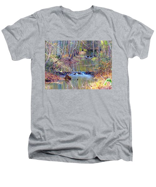 Double Falls Men's V-Neck T-Shirt