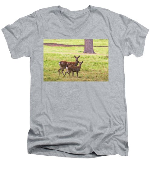 Men's V-Neck T-Shirt featuring the photograph Double Take by Scott Carruthers