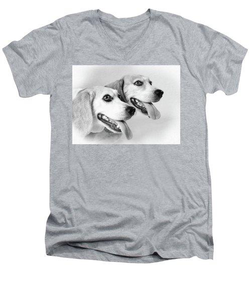 Double Trouble Men's V-Neck T-Shirt