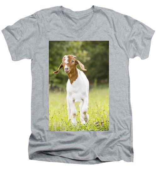 Dougie The Goat Men's V-Neck T-Shirt