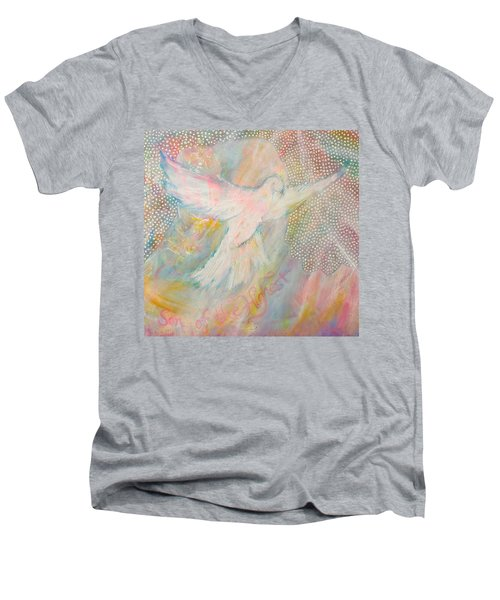 Dove Detail From Immaculate Conception Men's V-Neck T-Shirt