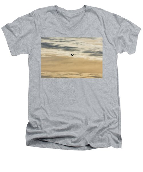 Dove In The Clouds Men's V-Neck T-Shirt