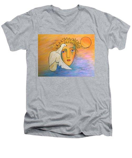 Dove-whisperer Men's V-Neck T-Shirt