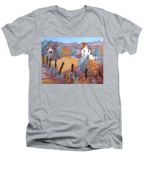 Down A Country Road Men's V-Neck T-Shirt
