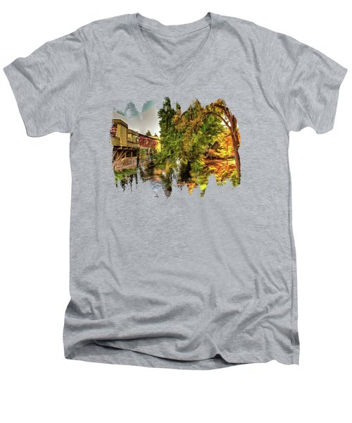 Down By The Creek Men's V-Neck T-Shirt