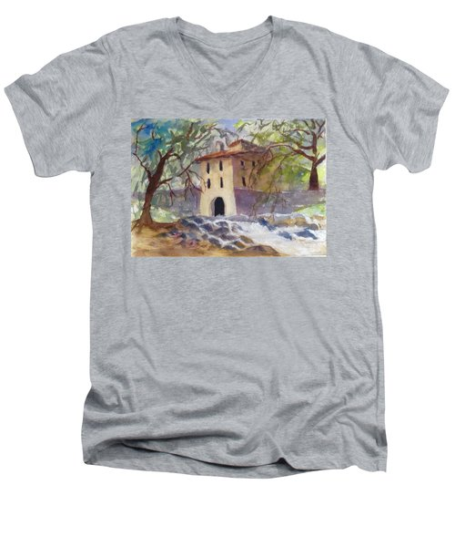 Down By The Old Mill Stream Men's V-Neck T-Shirt