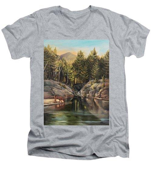 Down By The Pemigewasset River Men's V-Neck T-Shirt