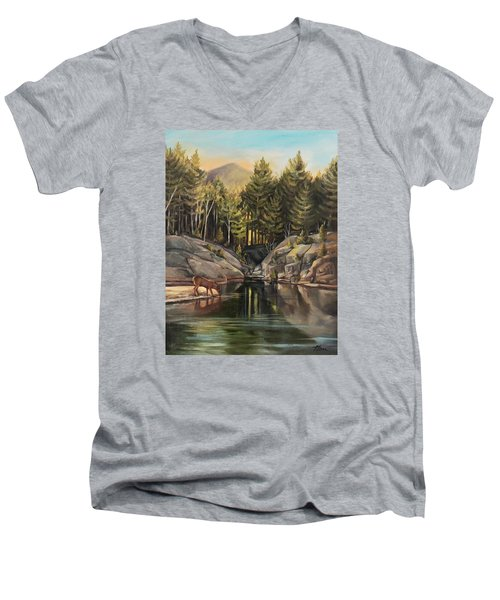 Down By The Pemigewasset River Men's V-Neck T-Shirt