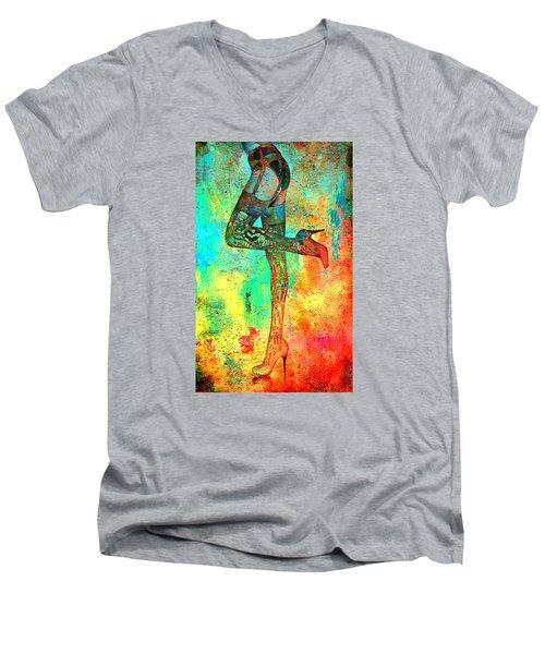 Down Hoser Men's V-Neck T-Shirt by Greg Sharpe