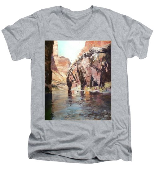 Down Stream On The Mighty Colorado River Men's V-Neck T-Shirt