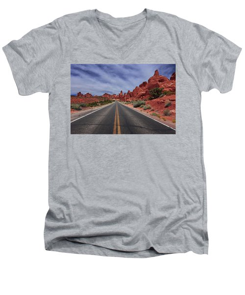 Down The Open Road Men's V-Neck T-Shirt