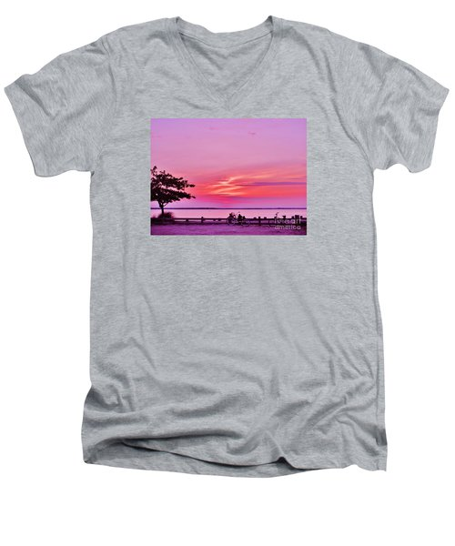 Summer Down The Shore Men's V-Neck T-Shirt by Susan Carella