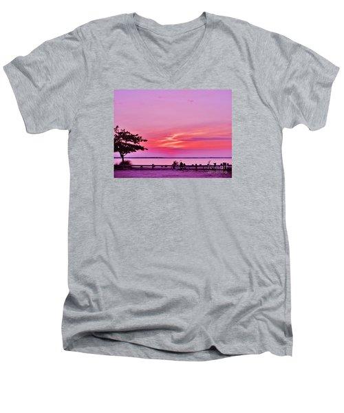 Summer Down The Shore Men's V-Neck T-Shirt