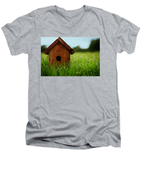 Men's V-Neck T-Shirt featuring the photograph Down To Earth by Laura Fasulo