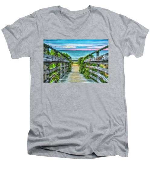 Down To The Beach Men's V-Neck T-Shirt