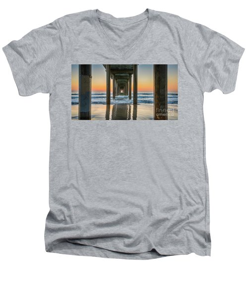 Down Under Scripp's Pier  Men's V-Neck T-Shirt