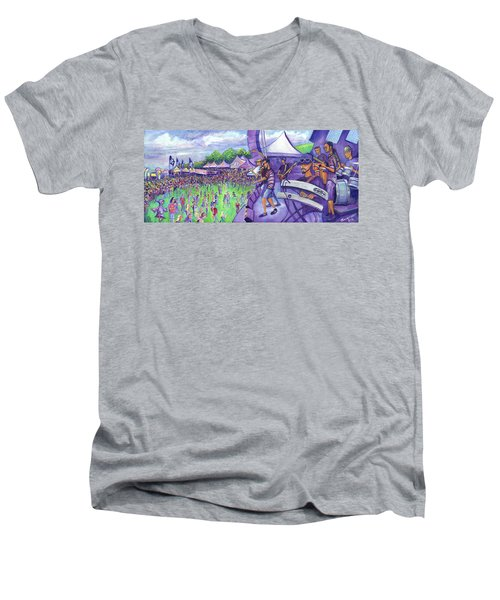 Down2funk At Arise Men's V-Neck T-Shirt by David Sockrider
