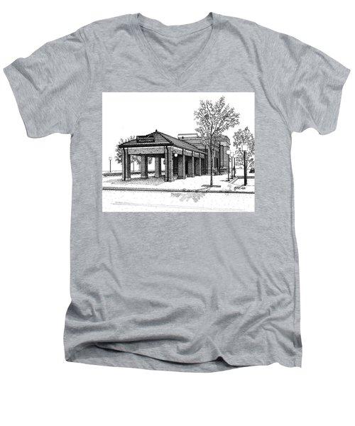 Downers Grove Main Street Train Station Men's V-Neck T-Shirt
