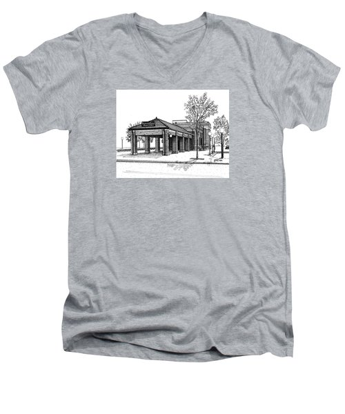 Downers Grove Main Street Train Station Men's V-Neck T-Shirt