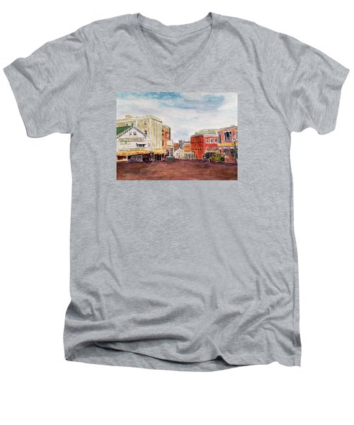 Downtown Amesbury Ma Circa 1920 Men's V-Neck T-Shirt
