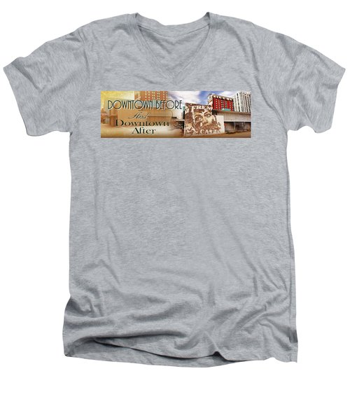 Downtown Before And Downtown After Men's V-Neck T-Shirt
