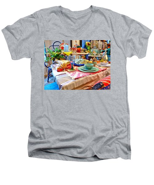 Downtown Greenville Men's V-Neck T-Shirt