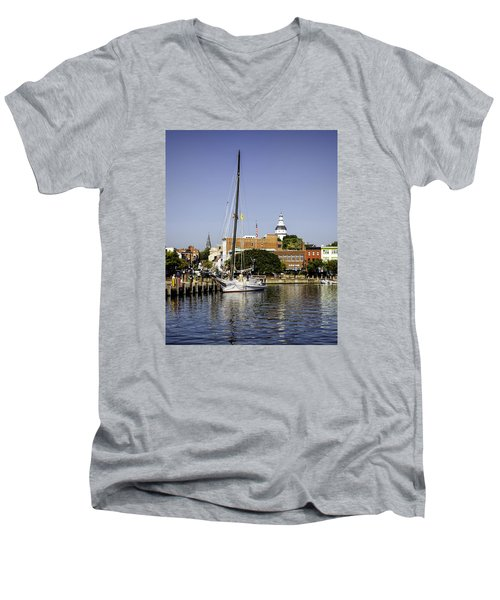 Downtown II Men's V-Neck T-Shirt