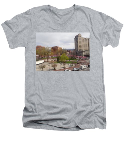 Downtown In Springtime Men's V-Neck T-Shirt