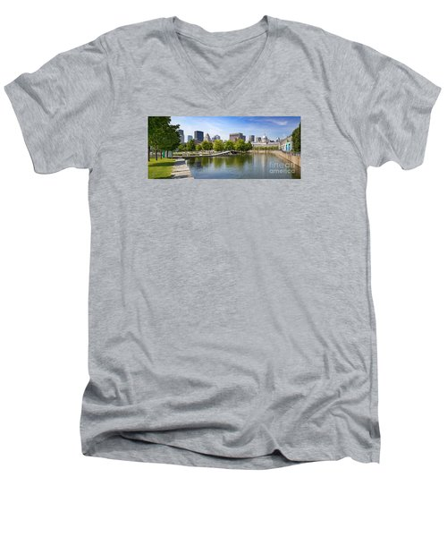 Downtown Montreal In Summer Men's V-Neck T-Shirt