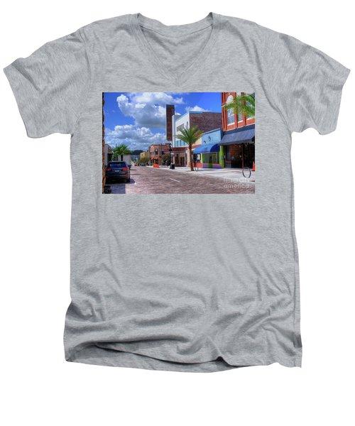Downtown Ocala Theatre Men's V-Neck T-Shirt