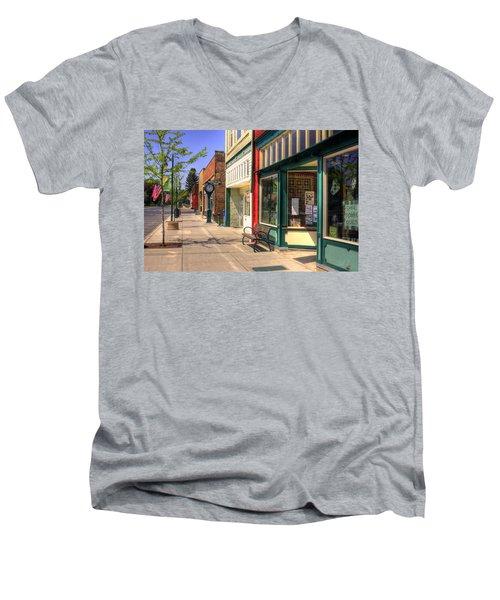 Downtown Palouse Washington Men's V-Neck T-Shirt