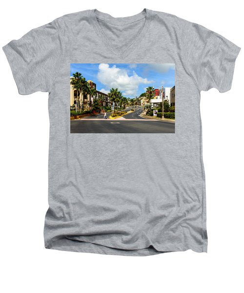 Downtown Tamuning Guam Men's V-Neck T-Shirt