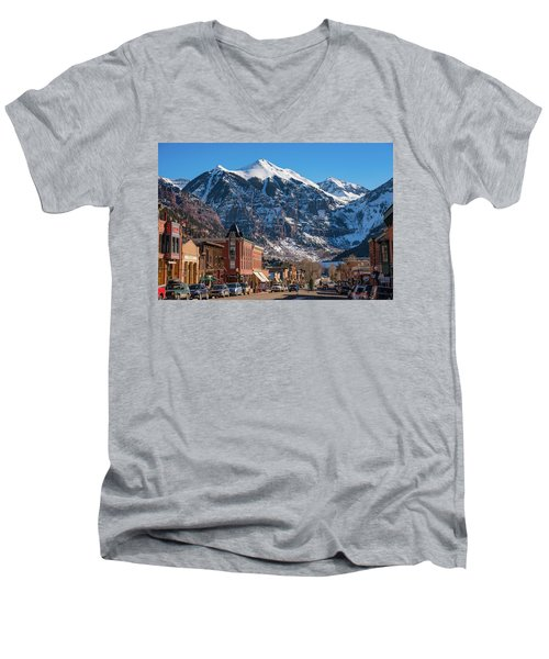 Downtown Telluride Men's V-Neck T-Shirt