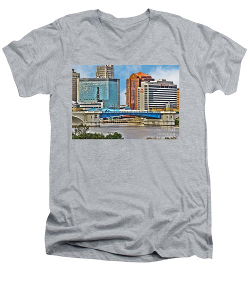 Downtown Toledo Riverfront Men's V-Neck T-Shirt