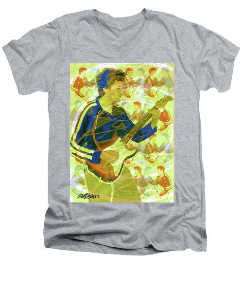 Dr. Guitar Men's V-Neck T-Shirt by Seth Weaver