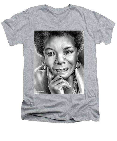 Dr Maya Angelou Men's V-Neck T-Shirt