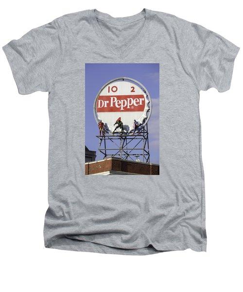 Dr Pepper And The Avengers Men's V-Neck T-Shirt