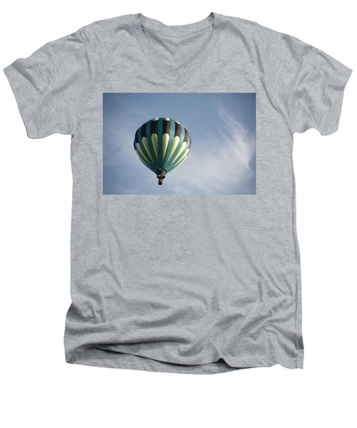 Men's V-Neck T-Shirt featuring the digital art Dragon Cloud With Balloon by Gary Baird