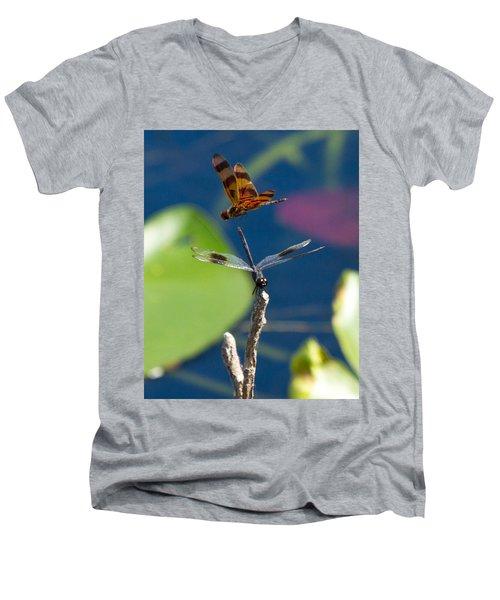 Dragon Fly 195 Men's V-Neck T-Shirt