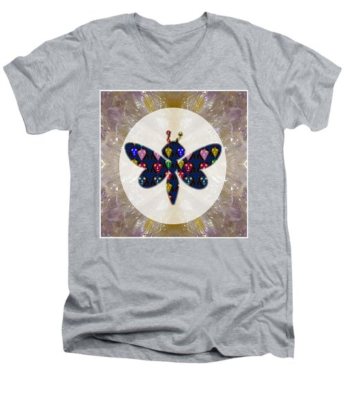 Dragon Fly Cute Painted Face Cartons All Over Donwload Option Link Below Personl N Commercial Uses Men's V-Neck T-Shirt