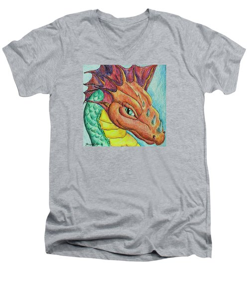 Dragon Portrait Men's V-Neck T-Shirt