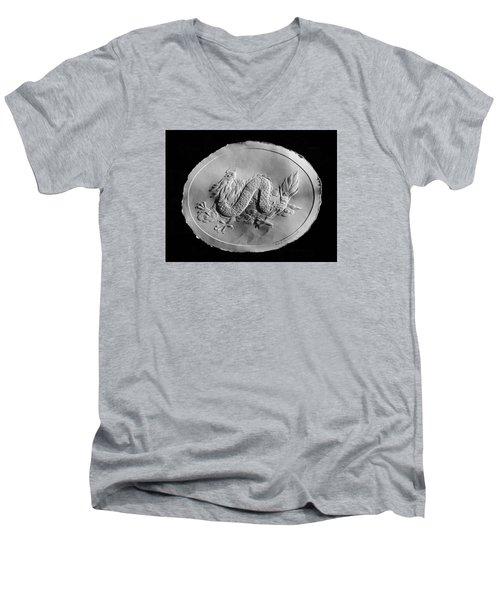 Dragon Men's V-Neck T-Shirt by Suhas Tavkar