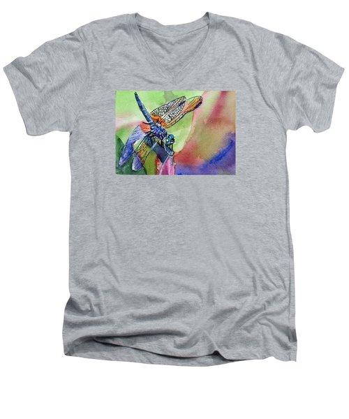 Dragonfly Of Many Colors Men's V-Neck T-Shirt
