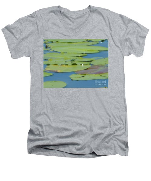 Dragonfly On Lily Pad Men's V-Neck T-Shirt