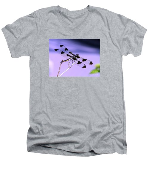 Dragonfly Men's V-Neck T-Shirt by Susan  Dimitrakopoulos