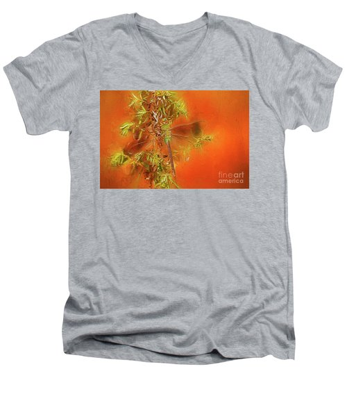 Dragonfly Men's V-Neck T-Shirt by Suzanne Handel
