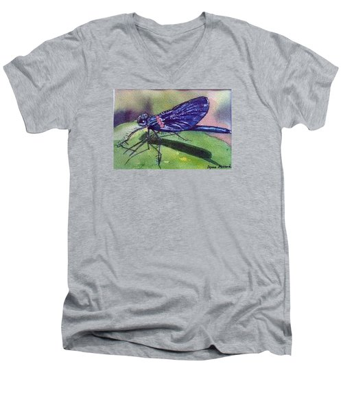 Dragonfly With Shadow Men's V-Neck T-Shirt